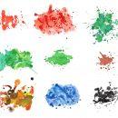 9 Watercolor Splatter Textures (JPG) Vol. 2