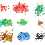 9 Watercolor Splatter Textures (JPG) Vol. 2