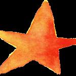 15 Watercolor Star (PNG Transparent)