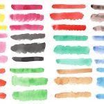 36 Watercolor Brush Stroke Banners (PNG Transparent) Vol. 2