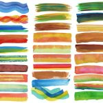 30 Colorful Watercolor Brush Stroke Banner (PNG Transparent) Vol. 2