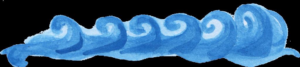 6 Watercolor Ocean Wave (PNG Transparent) | OnlyGFX.com