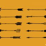 10 Bow Arrow Vector (SVG, PNG Transparent)