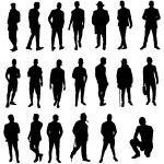 20 Man Silhouette (PNG Transparent)