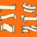 6 Banner Drawing Vector (SVG, PNG Transparent)