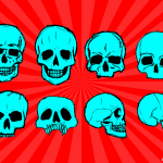 8 Skull Drawing Vector (SVG, PNG Transparent)