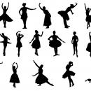20 Ballerina Silhouette (PNG Transparent)