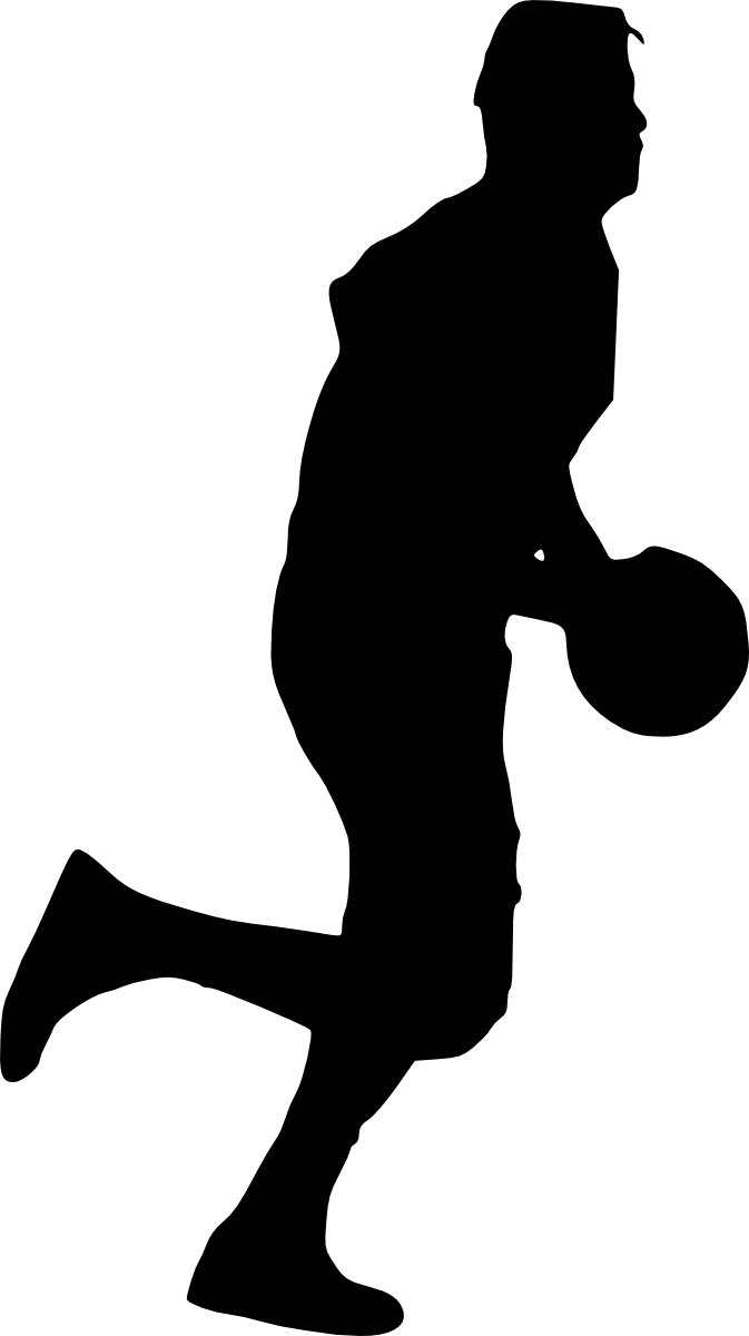 19 Basketball Player Silhouette (PNG Transparent ... (673 x 1200 Pixel)