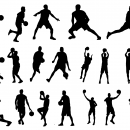 19 Basketball Player Silhouette (PNG Transparent)