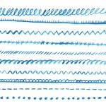 10 Blue Watercolor Border Line (PNG Transparent)
