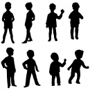 8 Boy Silhouette (PNG Transparent)