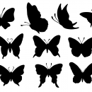 10 Butterfly Silhouette (PNG Transparent)