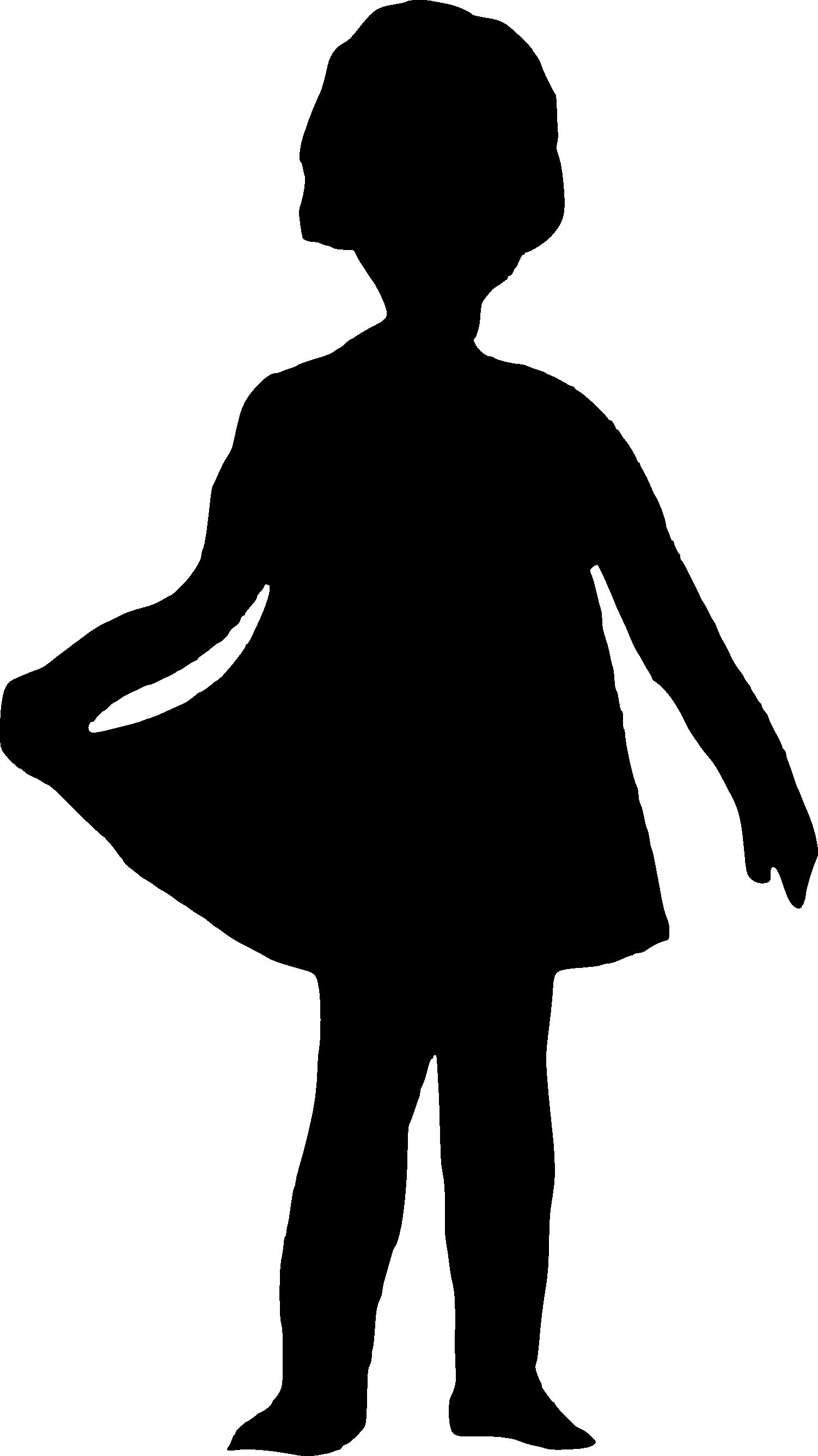 File:Girl silhouette black.svg - Wikimedia Commons |Girl Silhoutte