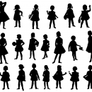 20 Girl Silhouette (PNG Transparent)