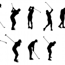 10 Golfer Silhouette (PNG Transparent)