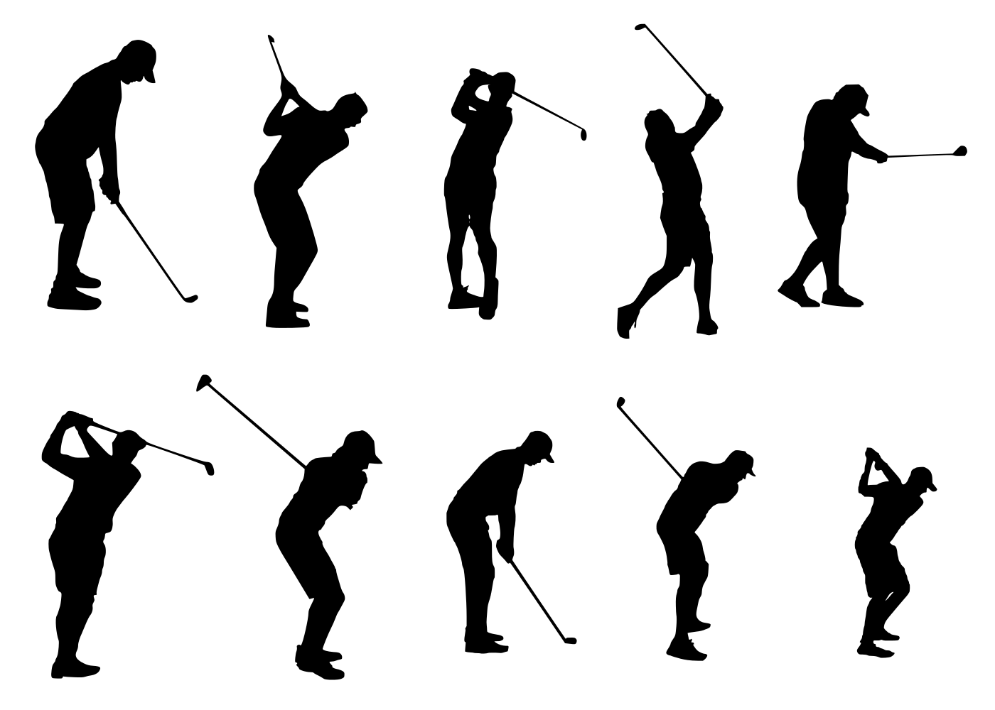 10 Golfer Silhouette Png Transparent Onlygfx Com