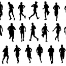 20 Man Running Silhouette (PNG Transparent)