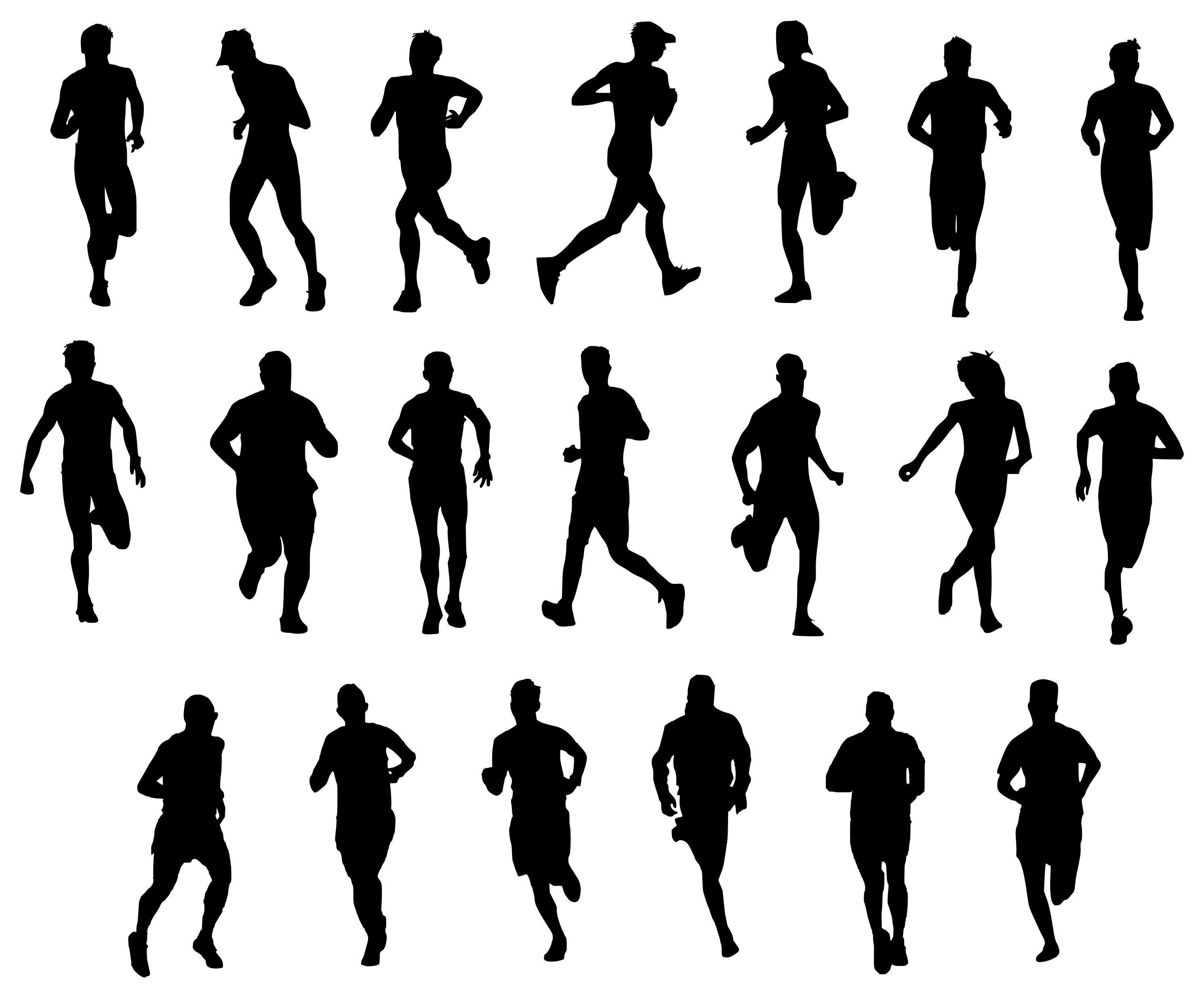20 Man Running Silhouette (PNG Transparent) | OnlyGFX.com for people running silhouette png  588gtk