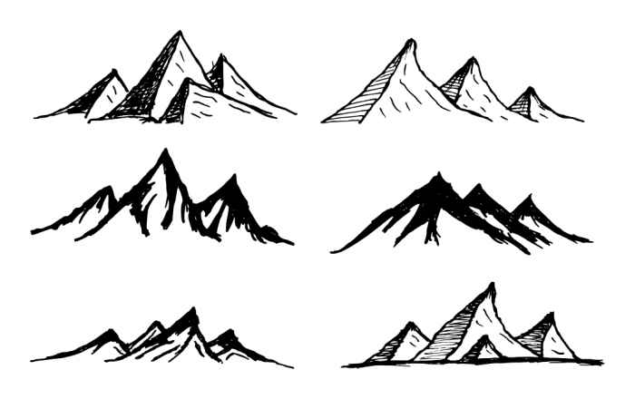 6 Mountain Drawing Vector Svg Png Transparent Onlygfx Com