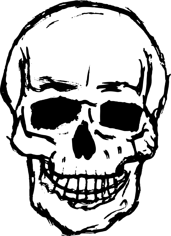 OnlineLabels Clip Art - Skull 07  Transparent Skull Clipart