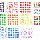 11 Watercolor Circle Pattern (PNG Transparent)