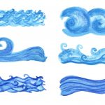 6 Watercolor Ocean Wave (PNG Transparent) Vol. 2