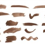 19 Brown Watercolor Brush Stroke (PNG Transparent) Vol. 2