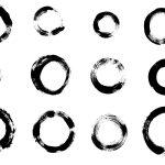 12 Grunge Circle Brush Stroke (PNG Transparent)