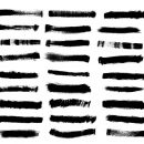 44 Grunge Brush Stroke Banner (PNG Transparent) Vol. 3
