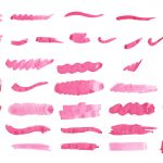 39 Pink Watercolor Brush Stroke (PNG Transparent) Vol. 2