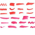 37 Red Watercolor Brush Stroke (PNG Transparent) Vol. 2