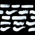 26 White Paint Brush Stroke (PNG Transparent)