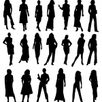 20 Woman Silhouette (PNG Transparent) Vol. 2