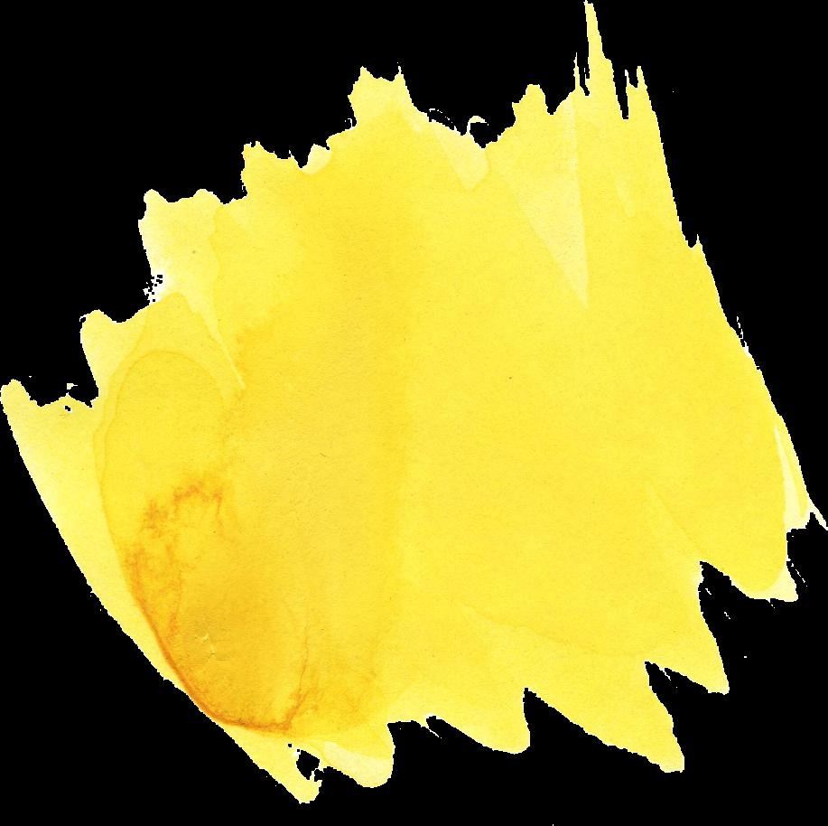 22 Yellow Watercolor Brush Stroke (PNG Transparent ...