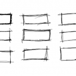 9 Scribble Rectangle Banner (PNG Transparent)