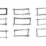 9 Scribble Rectangle Banner (PNG Transparent)