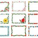 9 Floral Flower Frame (JPG)