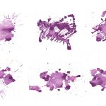 6 Purple Watercolor Texture (JPG)