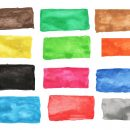 11 Watercolor Banner Rectangle (PNG Transparent) Vol. 2