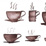8 Watercolor Coffee Cup (PNG Transparent)