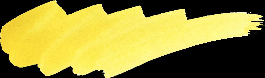 33 Yellow Watercolor Brush Stroke (PNG Transparent) Vol. 2 ...