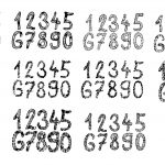 10 Sets Grunge Numbers (PNG Transparent)
