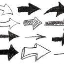 12 Crayon Arrow (PNG Transparent)