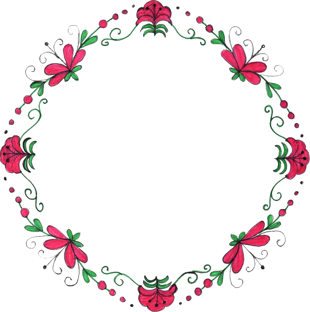 8 Circle Flower Drawing Frame Png Transparent Onlygfx Com
