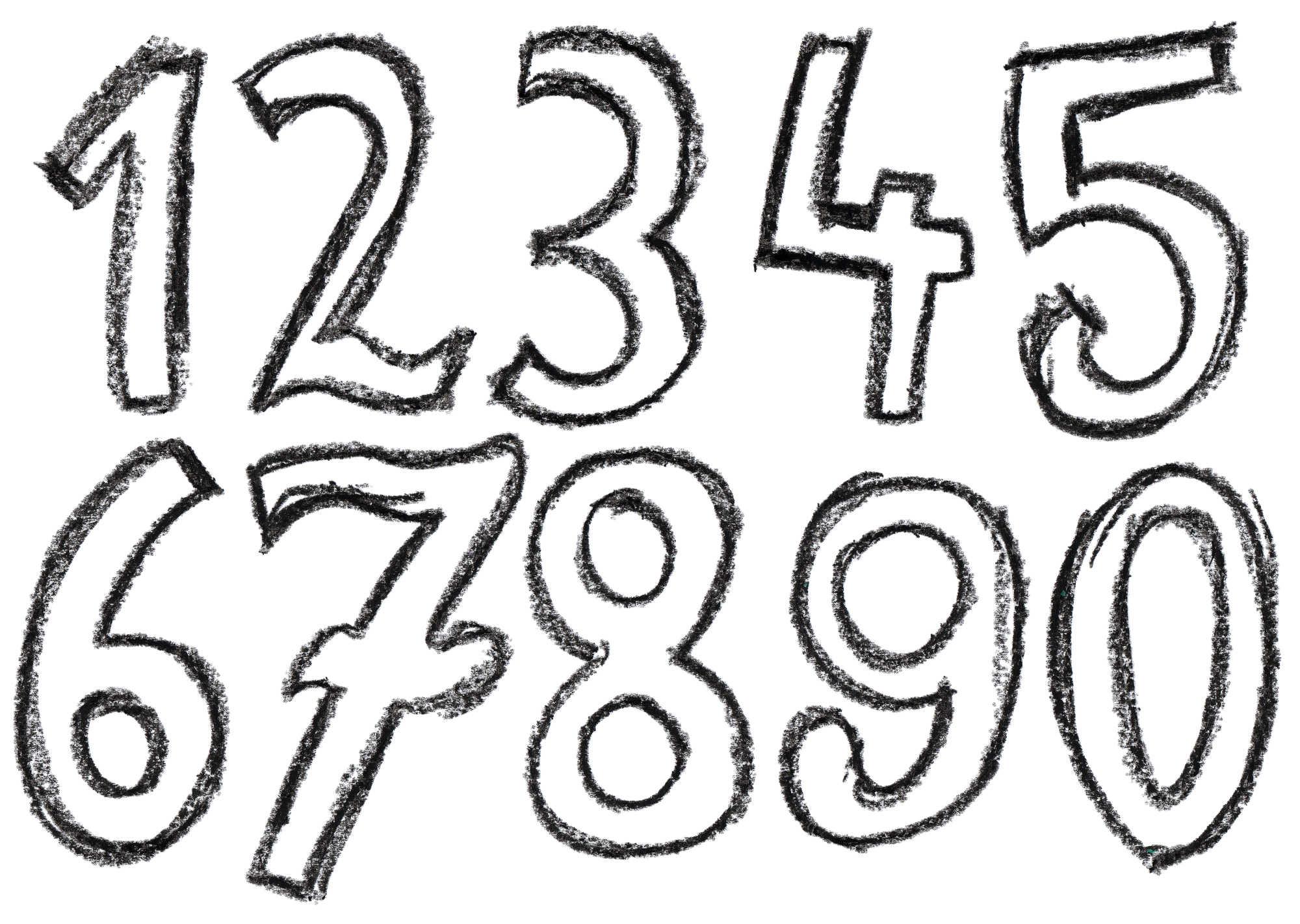 Crayon Number (PNG Transparent) | OnlyGFX.com