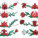 8 Flower Page Divider Drawing (PNG Transparent)