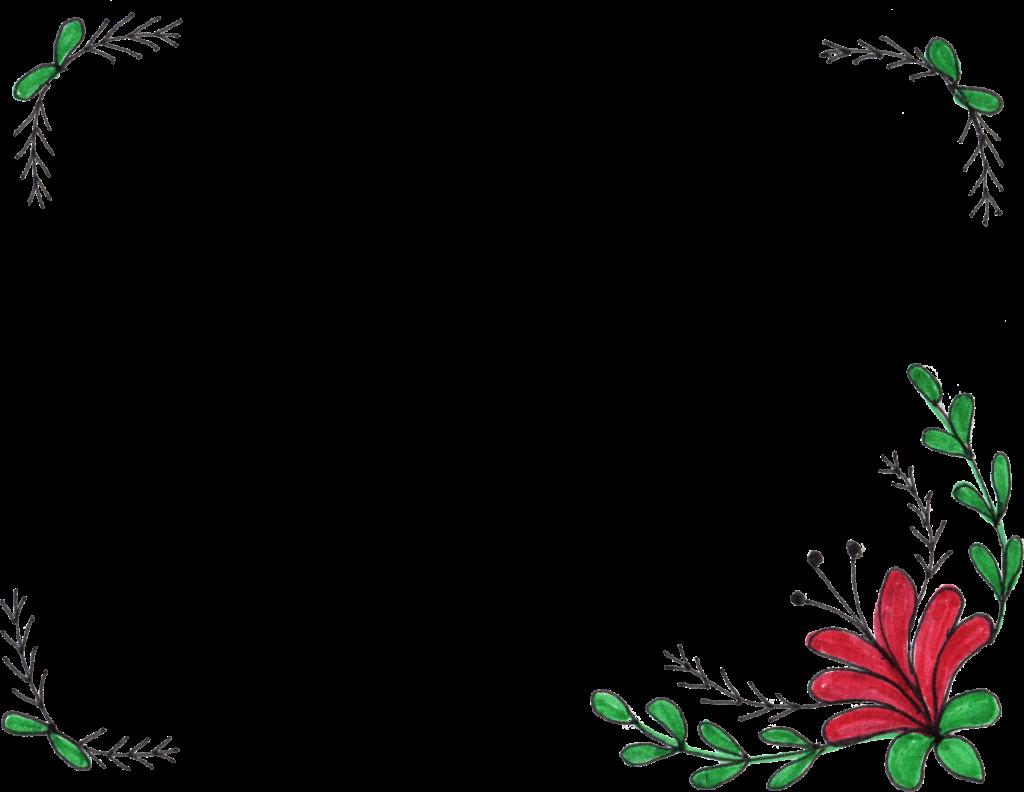 8 Flower Frame Drawing (PNG Transparent) | OnlyGFX.com