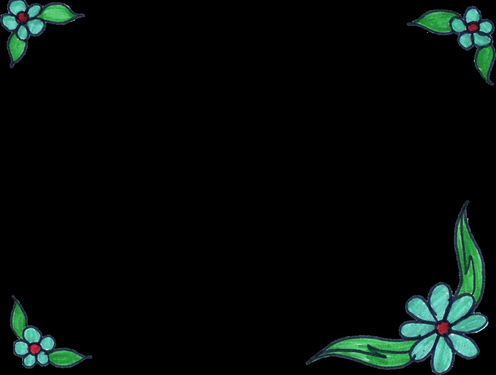 8 Flower Frame Drawing Png Transparent Onlygfx Com