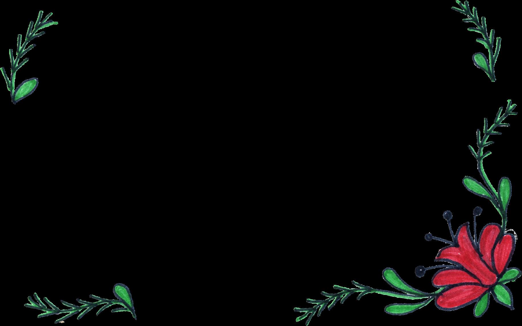 Flower Frame Line Drawing : Flower frame drawing png transparent onlygfx