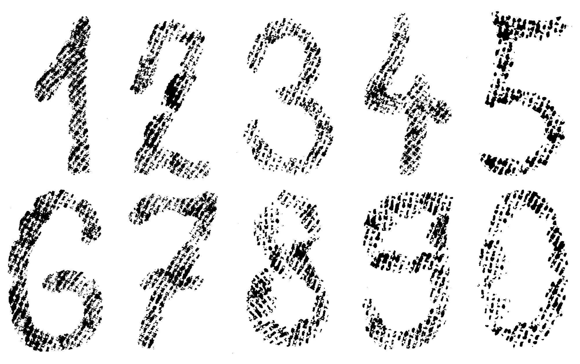 10 Sets Grunge Numbers (PNG Transparent) | OnlyGFX com